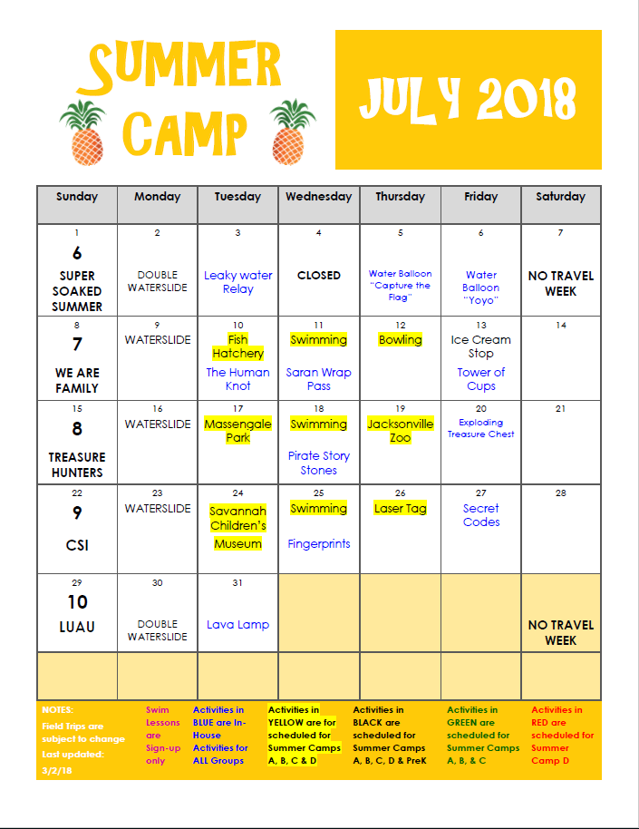 Summer Camp 2018 Richmond Hill Montessori Preschool
